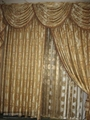 Plain Polyester Window Curtain with Attached Valance 3