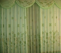 Plain Polyester Window Curtain with Attached Valance 4