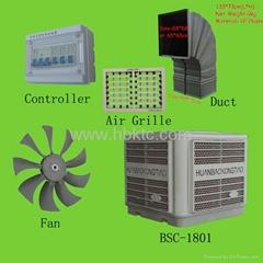 Evaporaive air cooler for 18000cmh air flow
