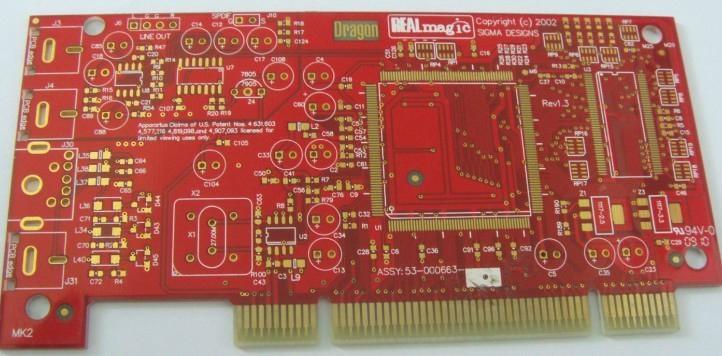 红油金手指PCB板快速生产厂家 1