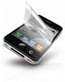 蘋果ipnone4代三層PET防刮花手機保護貼膜,一套 3