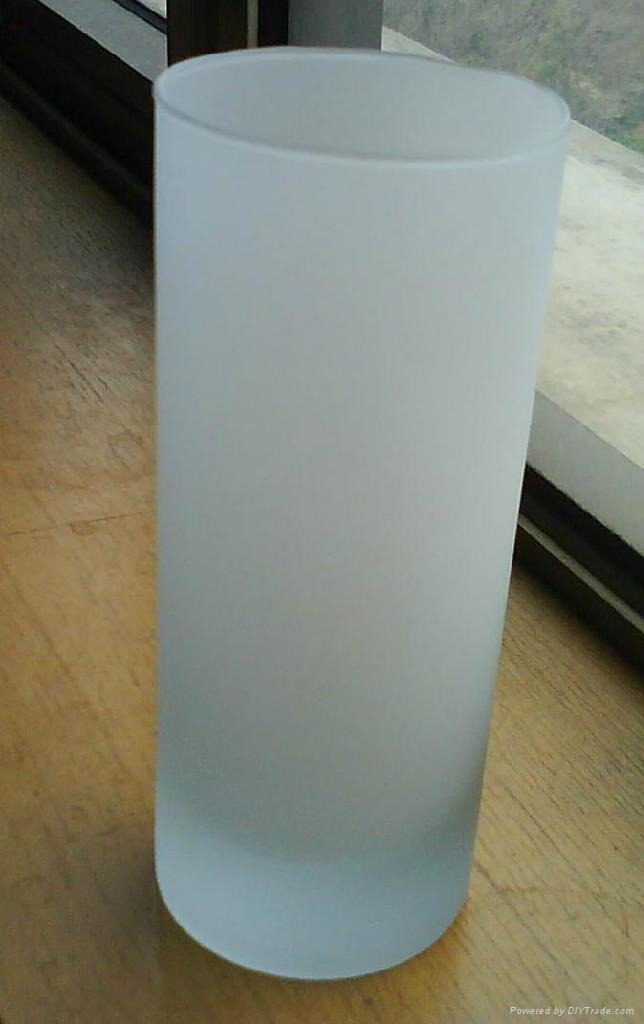 玻璃杯蒙砂加工 2