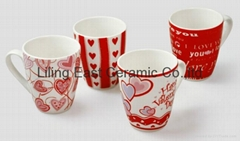 ceramic valentine coffee mug
