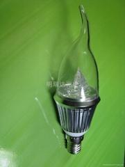 水晶燈用LED球泡蠟燭燈-3W