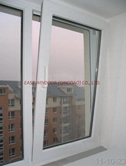 UPVC tilt&turn window, casement window, pvc window, windows