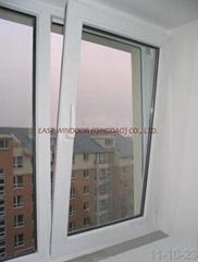 UPVC tilt&turn window, casement window, pvc window, windows