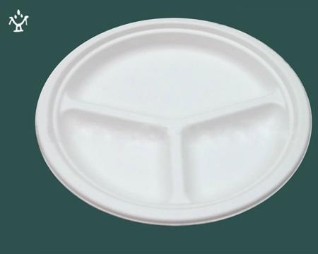 10''3-com biodegradable disposable Corn starch plates - HY