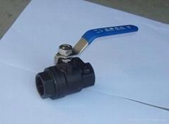 克瑞二片式碳钢球阀KRCNQ11F