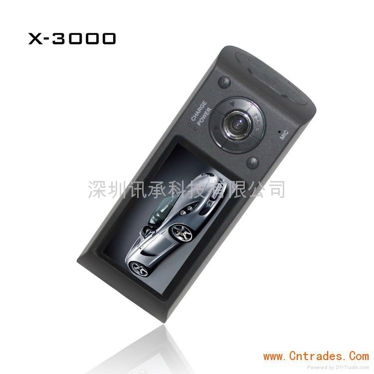 汽车黑匣子X3000双镜头车载红外摄像机 1