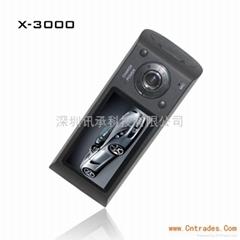 汽车黑匣子X3000双镜头车载红外摄像机