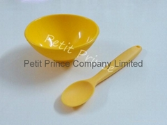 Baby feeding silicone bowl and spoon