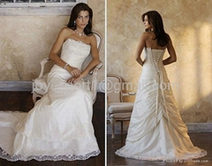 Wholesale Supplier Factory Professional TopBride Taffeta gown