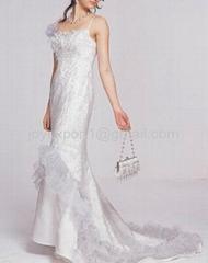 2011 new style popular organza wedding dress
