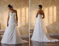 2011 Hot-selling sweetheart chapel train embroidered ball gown wedding dress  1
