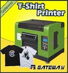 Digital flatbed t-shirt textile garment printer