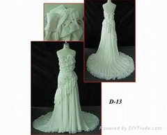 Silk wedding gown bridal dress D13