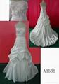 Satin wedding dress bridal gown A3536
