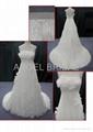 Chiffon beautiful wedding dress V0062