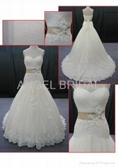 lace wedding gown bridal dress V0058