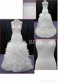 hot sell Orangza wedding dress bridal