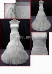 Wholesale Organza wedding gown bridal dress V0029
