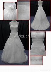 Wholesale Satin wedding gown bridal dress V0030