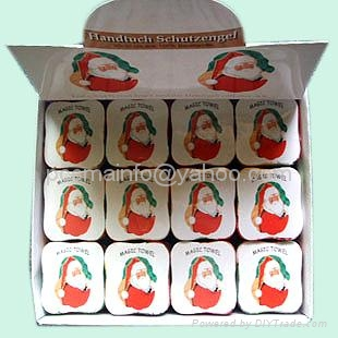 100% Cotton Compressed Towel as Holiday Promotional Gifts 1