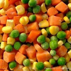 frozen mixed vegetables IQF mixed vegetables(qianye)