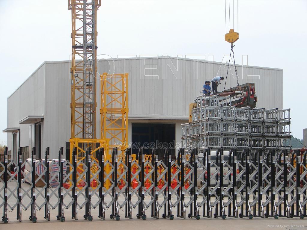 其中建筑机械以塔式起重机,混凝土布料机,施工升降机及配套件为主