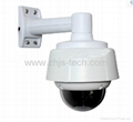 Mini High speed dome IP Camera with 10x zoom CCD 480TVL H.264 compression