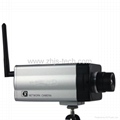 Mega Pixel CMOS Wireless IP CCTV Camera H.264 Compression,one way audio , Motion