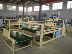 semi automatic folding and gluing machine