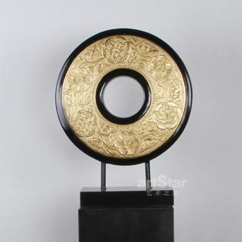 中式古典圆型艺术品摆件 1