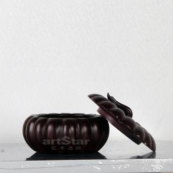 金色烟灰缸储物盒商用酒店家用艺术品摆件 1