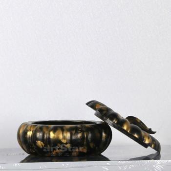 金色烟灰缸储物盒商用酒店家用艺术品摆件 3