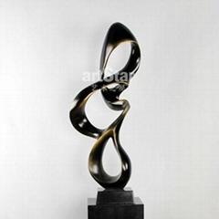 歐式抽象流線造型藝朮品擺件