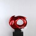 现代红色漩涡艺术品摆件