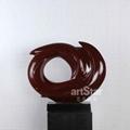 现代红色漩涡艺术品摆件 3