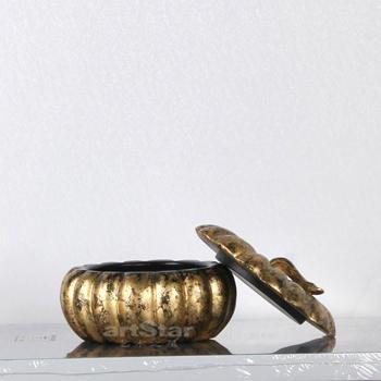 金色烟灰缸储物盒商用酒店家用艺术品摆件 4