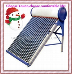 vacuum tube color stainless steel plate solar water heater