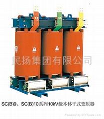 Resin casting dry-type transformer