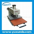Air operated single location heat press machine