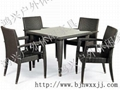 藤編桌椅仿藤陽台桌椅 1