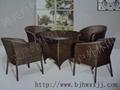 藤編桌椅仿藤陽台桌椅 3