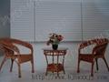 藤編桌椅仿藤陽台桌椅 5