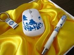 青花瓷鼠标三件套商务礼品