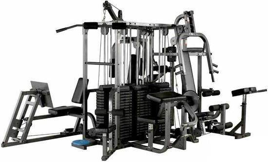 Supply station integrated exercise machine hom gym