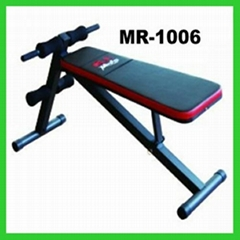 Black Adjustable Ab Crunch Bench