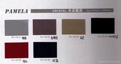 金属水晶面环保乳胶PU充皮纸