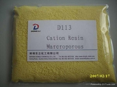 Macroporous Weak Acid Cation Exchange Resin